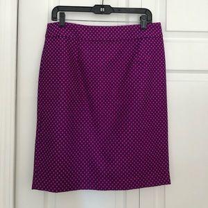 NWT Banana Republic Jacquard Pencil Skirt, Sz 10
